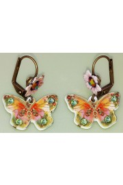 Michal Negrin Butterfly Flower Earrings