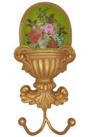 Michal Negrin Green Roses Wall Hanger