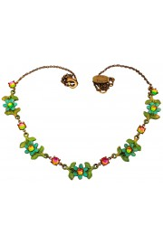 Michal Negrin Green Daisy Chain Necklace