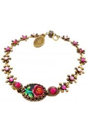 Michal Negrin Pink Rose Relief Bracelet