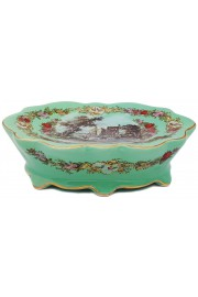 Michal Negrin Green Porcelain Soap Bar Raised Dish