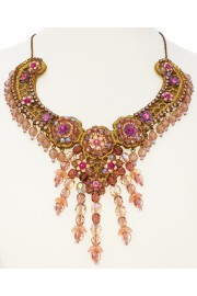 Michal Negrin Pink Lace Necklace