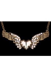 Michal Negrin Aurora Borealis Winged Heart Necklace