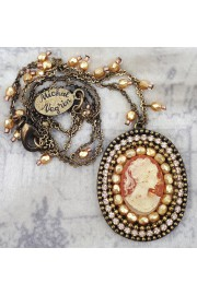 Michal Negrin Oval Lady Cameo Necklace