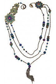 Michal Negrin Vitrage Inspired Multi Strand Necklace