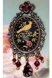 Michal Negrin Victorian Bird Cameo Brooch