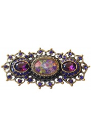 Michal Negrin Purple Cameo Heirloom Brooch
