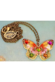 Michal Negrin Multicolor Butterfly Necklace
