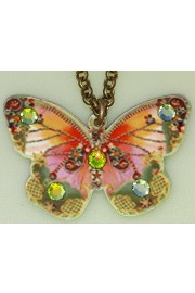 Michal Negrin Green Butterfly Necklace