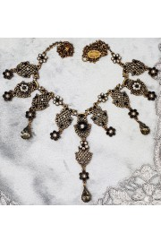 Michal Negrin Black Silver Edwardian Necklace