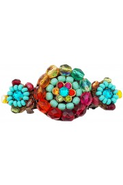Michal Negrin Multicolor Beaded Hair Clip Barrette