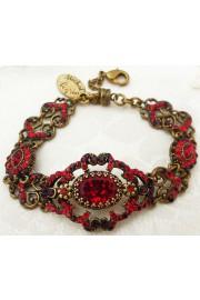 Michal Negrin Red Swarovski Crystals Bracelet