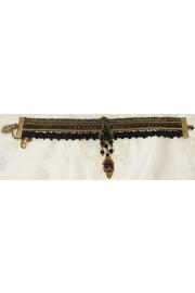 Michal Negrin Black Gold Lace Strands Crystal Bracelet