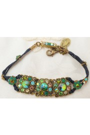 Michal Negrin Green Crystals Stranded Bracelet