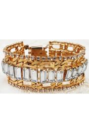 Michal Negrin Gold Figaro Crystal Bracelet