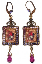 Michal Negrin X Disney Minnie Mouse Purple Crystal Earrings