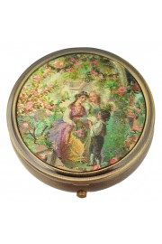 Michal Negrin Compact Pill Box - Victorian Country Pattern