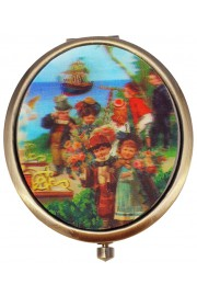 Michal Negrin Victorian Port Lenticular Compact Mirror