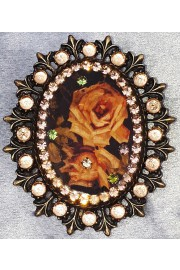 Michal Negrin Autumn Roses Cameo Ornate Brooch