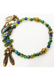 Michal Negrin Blue Green Natural Stones Bracelet