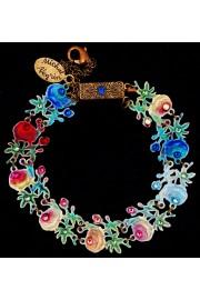Michal Negrin Multicolor Roses Lasercut Bracelet