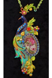 Michal Negrin Multicolor Peacock Necklace