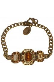 Michal Negrin Art Deco Bronze Gold Bracelet