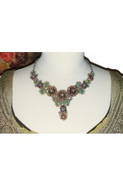 Michal Negrin Silver Lilac Lace Necklace