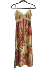 Michal Negrin Victorian Roses Slip Dress