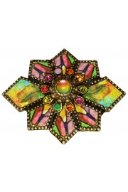Michal Negrin Art Nouveau Multicolor Brooch