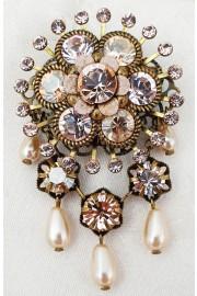 Michal Negrin Aura Crystal Flower Brooch