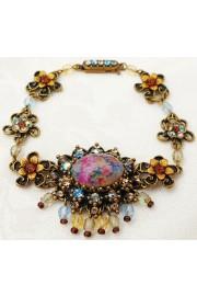 Michal Negrin Cabochon Cameo Antique Bracelet