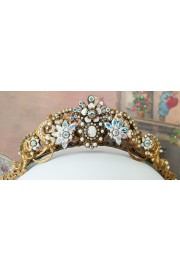 Michal Negrin White Crystals Tiara Crown