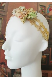 Michal Negrin Tie-dye Lace Floral Headband