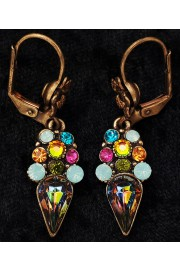 Michal Negrin Multicolor Crystal Earrings