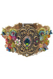 Michal Negrin Multicolor Beaded lace Ornate Bracelet