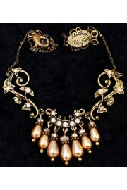 Michal Negrin Baroque Pearls Ivy Pendant Necklace