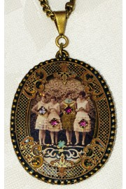 Michal Negrin Women Oval Filigree Necklace