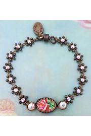 Michal Negrin Aurora Borealis Rose Relief Bracelet