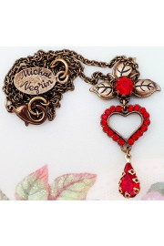 Michal Negrin Red Mini Heart Necklace