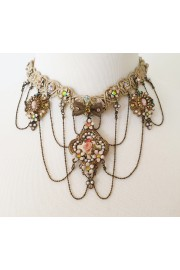 Michal Negrin Victorian Braided Choker Necklace