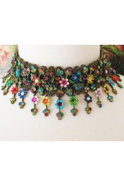 Michal Negrin Multicolor Eternal Spring Lace Choker