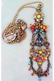 Michal Negrin Multicolor Chandelier Pendant Necklace