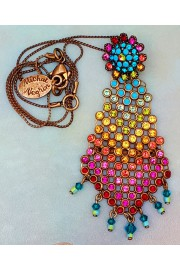 Michal Negrin Multicolor Chainmail Pendant Necklace