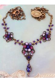 Michal Negrin Purple Swirl Flowers Necklace