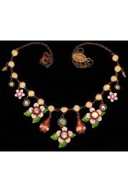 Michal Negrin Pink Peach Green Tokyo Necklace