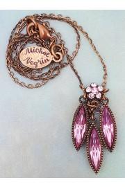 Michal Negrin Lilac Rhombus Pendant Necklace