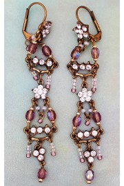 Michal Negrin Lilac Blush Starry Drop Earrings