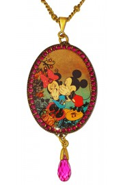 Michal Negrin x Disney Mickey Minnie Mouse Oval Cameo Necklace