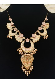 Michal Negrin Blush Vitrage Inspired Necklace